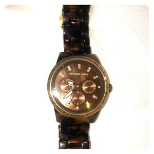 Michael Kors Tortoise Watch.